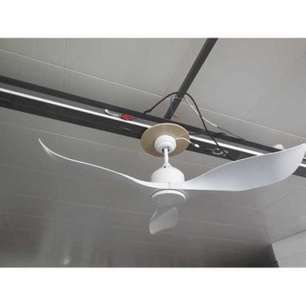 52 inch white DC decorative ceiling fan with ABS blade
