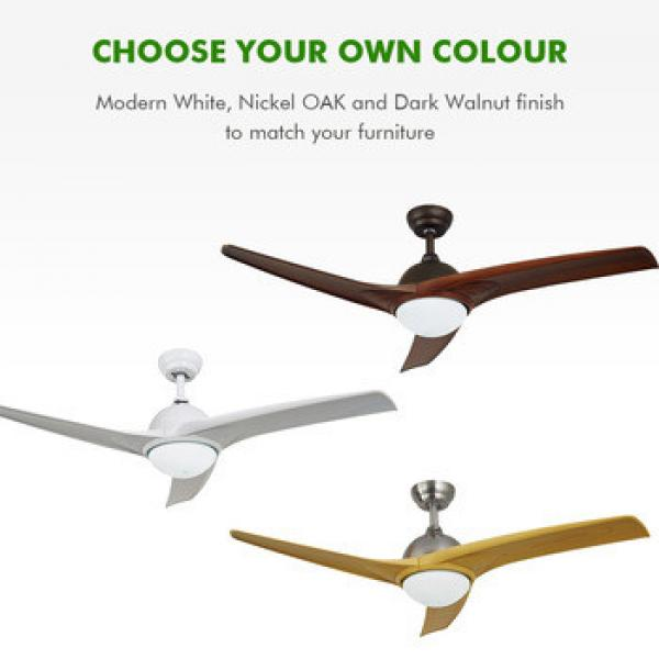 Energy saving low watt modern ceiling fan with led light