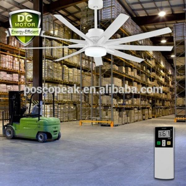 60 inch plastic blade DC brushless permanent magnet big ceiling fan decorative fan industrial ceiling fan with LCD remote