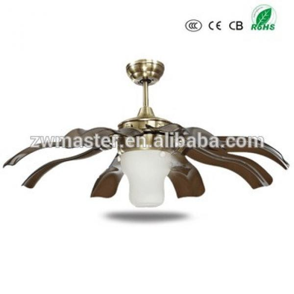 new arrival E27 light rose flower ABS blades LED ceiling fan