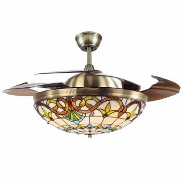 42 inch ceiling fan with hidden blades with LED light 4pcs ABS plastic blade 153*18 moter 42-1116