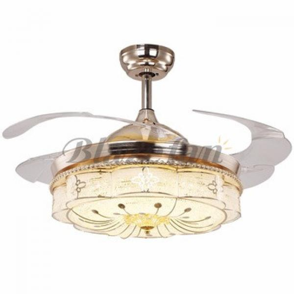 42 inch ceiling fan with hidden blades with LED light 4pcs ABS plastic blade 153*18 moter 42-8975