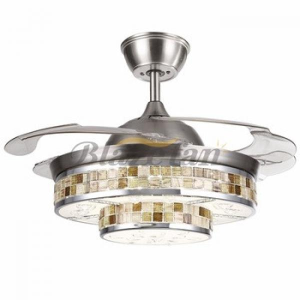 42 inch ceiling fan with hidden blades with LED light 4pcs ABS plastic blade 153*18 moter 42-8963