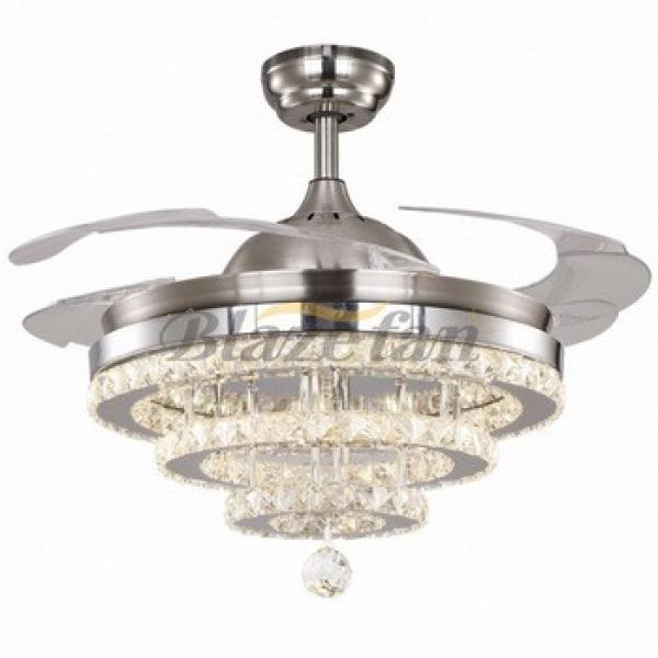 best selling products glass shade for ceiling fan hidden blades modern