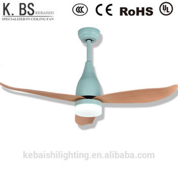 Green Macaron Style Modern Simple Ceiling Fans With Light and Remote