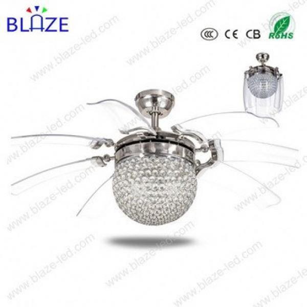 head light ceiling fan chandelier combo lighting hidden blades modern