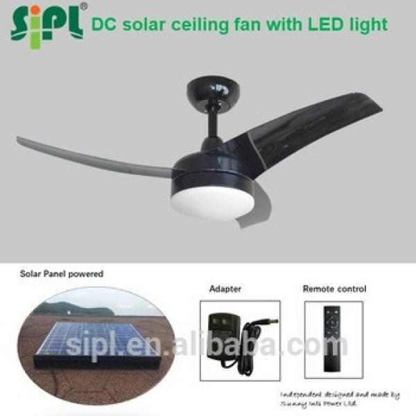 solar panel ceiling fan low energy consumption 35W 42 inch rechargeable solar battery operated air cooling fan