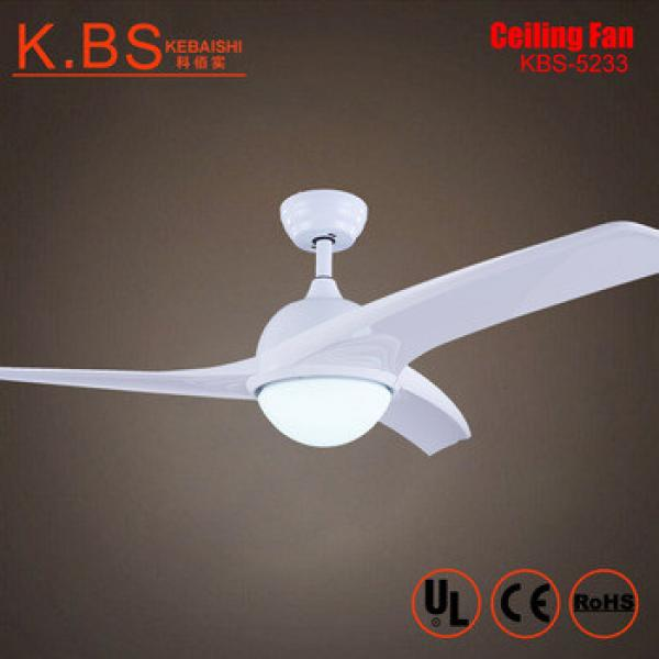 Modern Indoor White ABS Blades Ceiling Fan Remote Control Ceiling Fan With Light