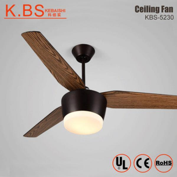 Modern Decorative High Speed Electric Motor 3 Blades Ceiling Fan With Light