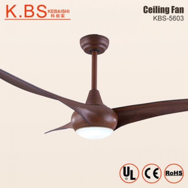 52 Inch Brown Decorative Fan Lighting 40W DC Motor Ceiling Fan With Light