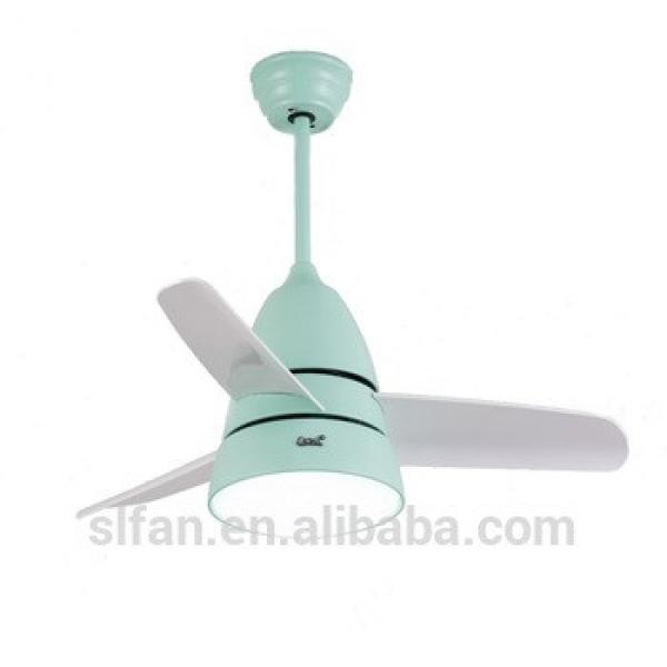 36 inch remote control small ceiling fan with LED light kits for child's room