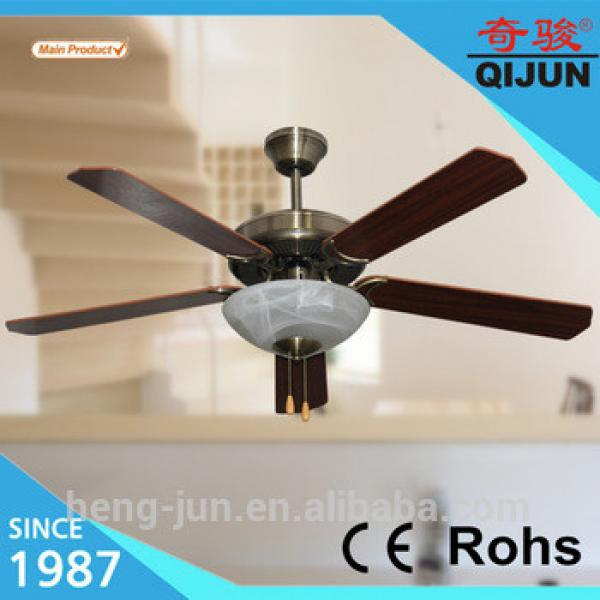 classic design 52inch decorative ceiling fan with light wooden 5 blade
