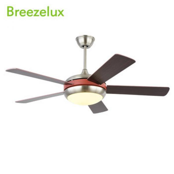 2018 Hot Selling 52inch remote control round chandelier wood grain blades ceiling fan with light