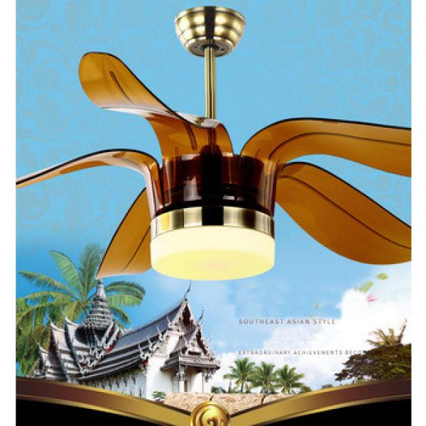 52 inch southeast Asian style plastic ABS ceiling fan with LED light and remote control