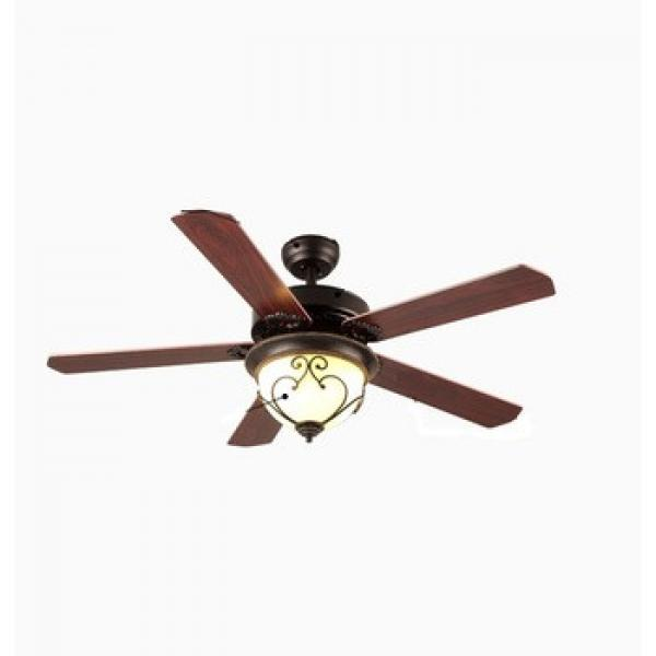 high rpm energy saving air cooling LED lights ceiling fan with wood blades