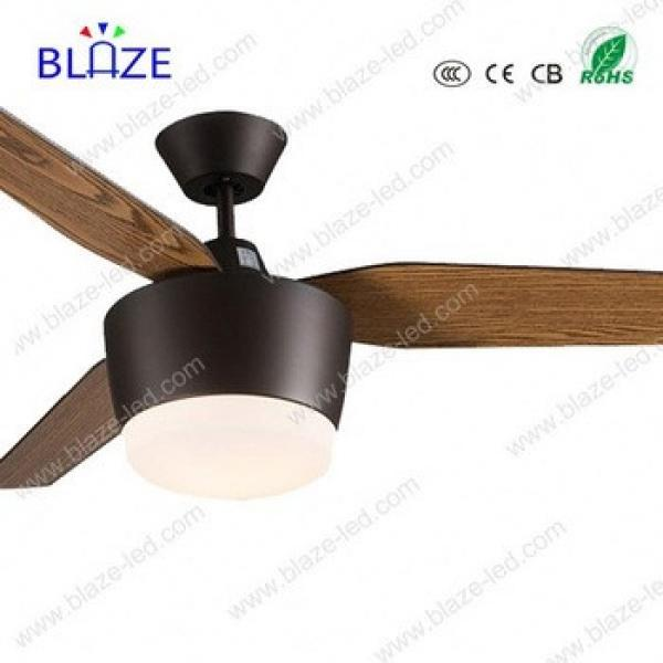2017 High quality AC 110v/220v wooden blades ceiling fan with light