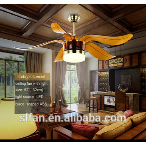 """52"""" bronze finish ceiling fan with single led light kit and 5pieces reversible ABS blade remote control"""