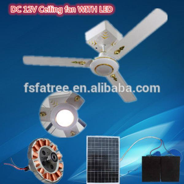 2016 Popular solar DC ceiling fan WITH LED light