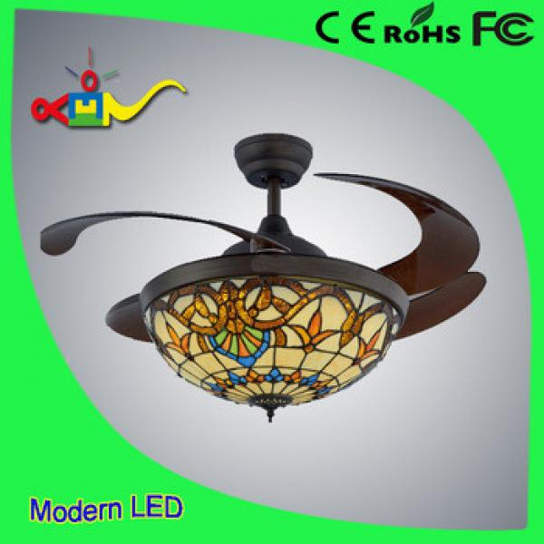 36 inch Crystal 54w celing fan with light