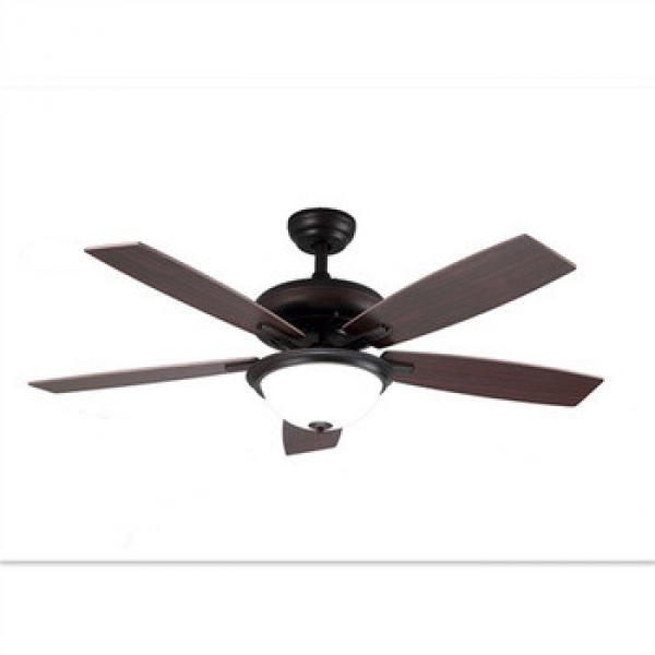 Traditional style wooden home fan LED light ceiling fans
