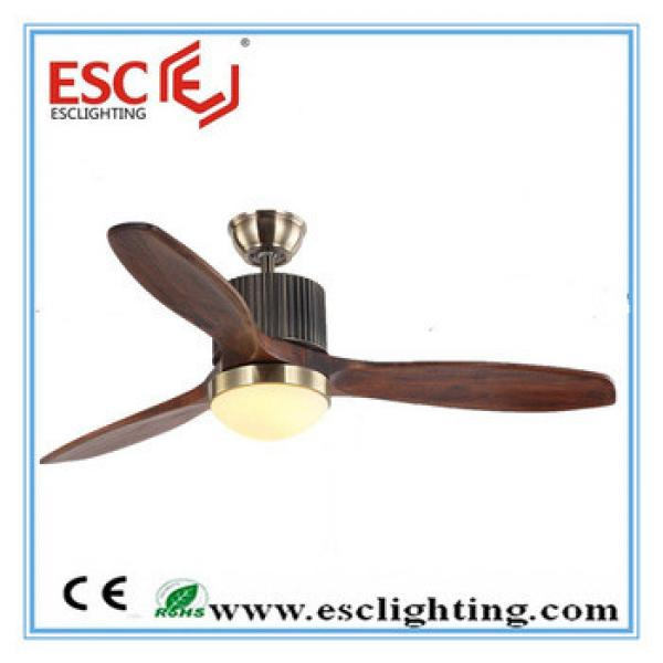 Wooden blade decorative energy saving ceiling fan with light