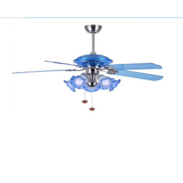 52 inch european style low profile flush mount plastic ABS ceiling fan with light