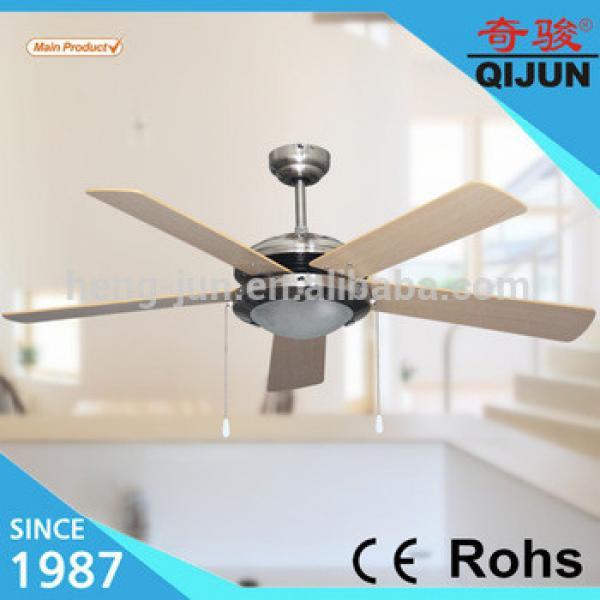 52inch decorative lighting ceiling fan 5 wooden blades
