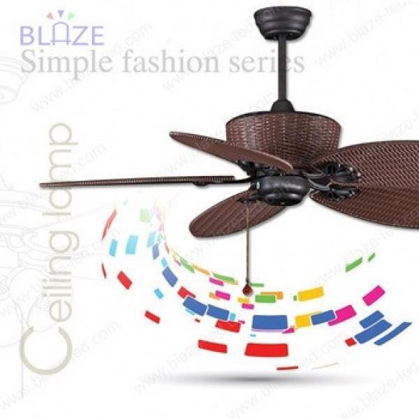 Luxury wooden blade led ceiling fan light