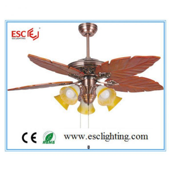 52'' inch ceiling fan light 5blade ceiling fan wood blade ceiling fan with light