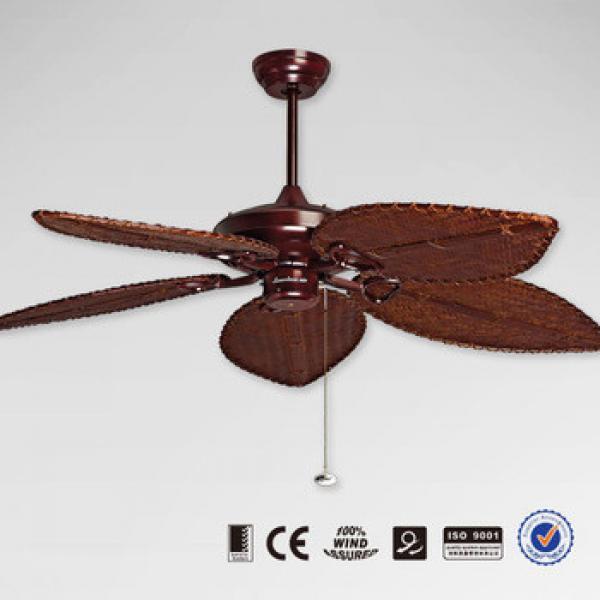 Rattan Blade Antique Ceiling Fan 52YFT-7085