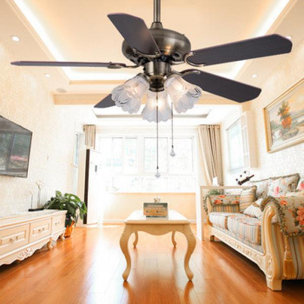 Antique Style Indoor Low Power 42 Inch 3 lights Mini Vintage Ceiling Fan with light