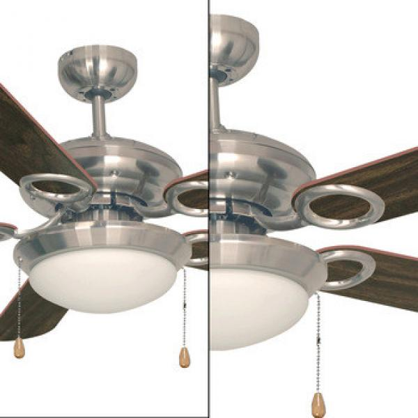 Modern High quality 5 blades 1200 lumens 52 inch Stainless steel Energy Saving led ceiling fan light