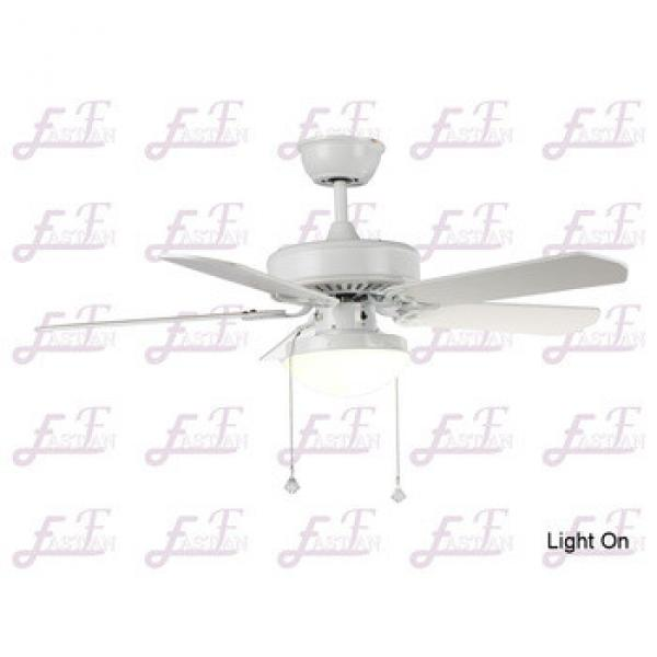 East Fan 42inch Five Blade Indoor Ceiling Fan with light item EF42102 White ceiling fans