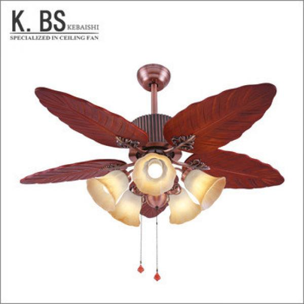 High Quality Wholesale Wooden Light Chandelier Ceiling Fan With Pendant Light