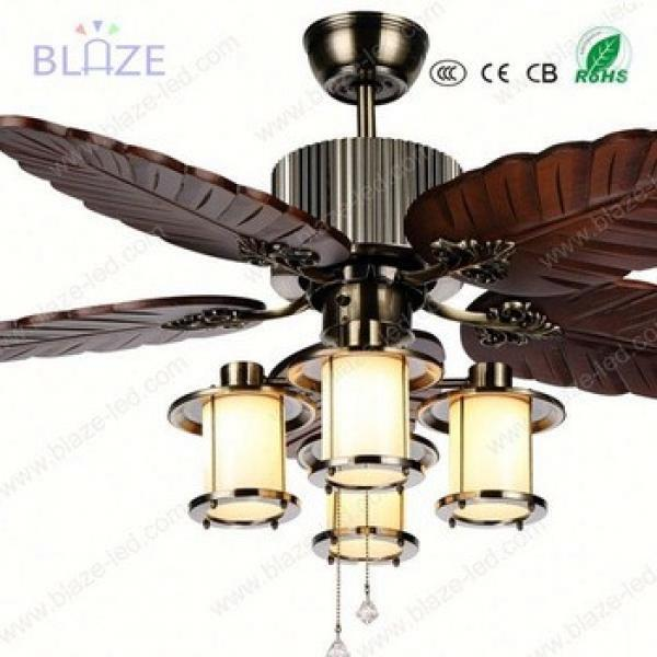 blade wood High quality decorative ceiling fan with light