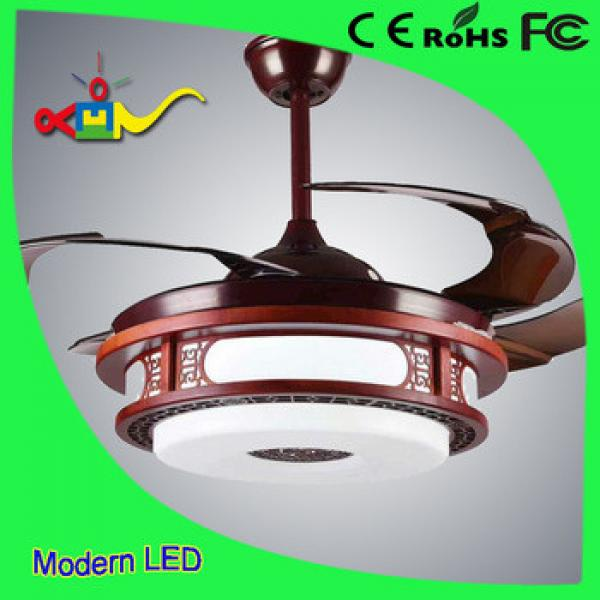 China syle CCT and speed adjustable remote controledl modern ceiling fan with led light