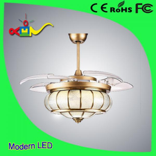 Europe style 52 inch CCT and speed adjustable remote controledl modern ceiling fan with led light