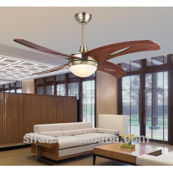 42 inch ceiling fan with 4 pieces wood blade glass led light,CE,UL approves energy saving