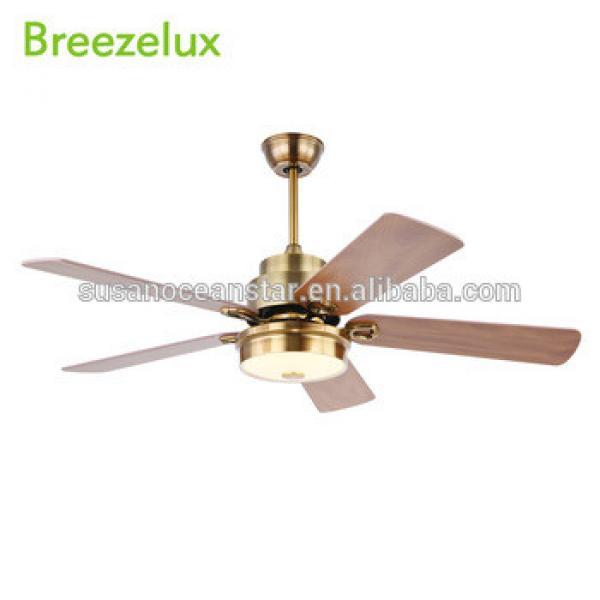 Hot sale 220v 70W indoor 52 inch wood blades vintage led light ceiling fan
