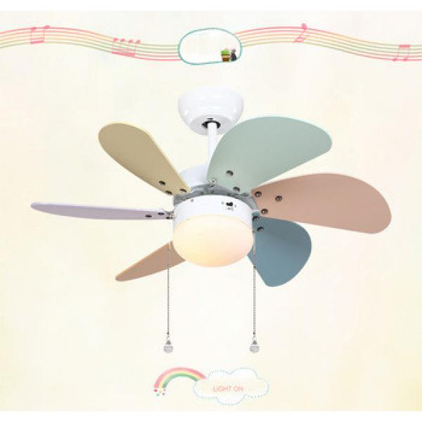 30 inch ceiling fan with 6 pieces poly wood blade and led light,CE,UL approves energy saving