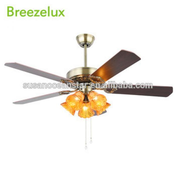 2018 52 inch fashion decorative 5 plywood blades ceiling fan with five lights