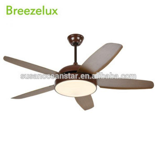 China zhongshan supply 52 inch 5 blades big wind remote control led chandelier ceiling fan light