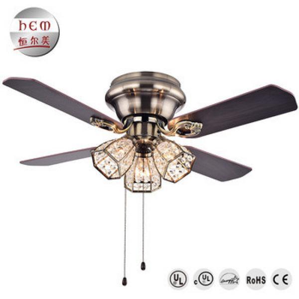 UL Manufacturer Ceiling Fan Light Low Price Crystal Fancy Ac Decorative Ceiling Fan