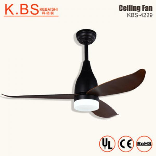 Air Cooler Retractable Ceiling Fan With Wooden Blade Suspension Lighting