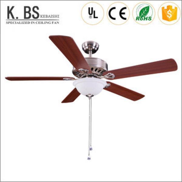 Hot Sale Wood Leaf Fan Pendant Lamp Ceiling Fan With Light Chandelier