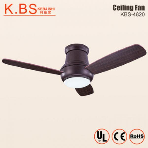Hot Wholesale Best Quality Brown Wooden Blade 42inch Ceiling Fan With LED Light