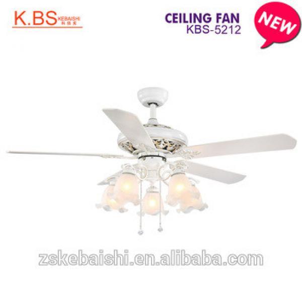 Indoor Decorative Elegant Western House Ceiling Wooden Design Fancy Fan Light