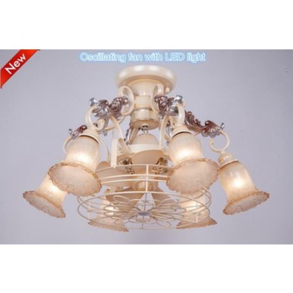 Indoor decorative lighting modern metal hanging light led chandelier pendant light with fan