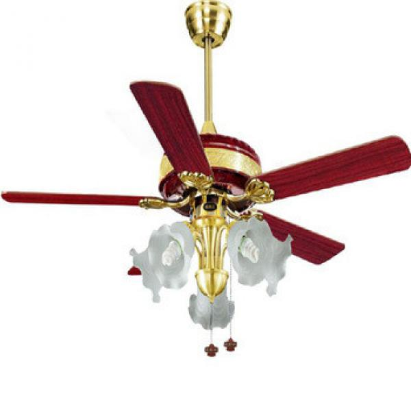 energy star low power consumption wood blade ceiling fan with light