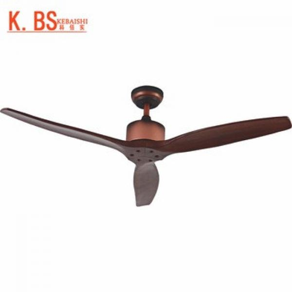 Top Quality 52inch 3 Wood Blades Speed Control Ceiling Fan Without Light